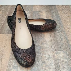 SAS Scenic Floral Lace Flats Slip On Shoes